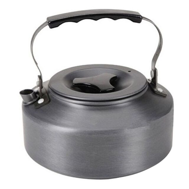 1.1L Kettle Picnic Camping Cookware Teapot Water Coffee Pot Aluminum Outdoor GU