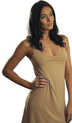 Spirituelle Adelle Microfibre Dress Slip for Resortwear  Size XS - 3XL Nude