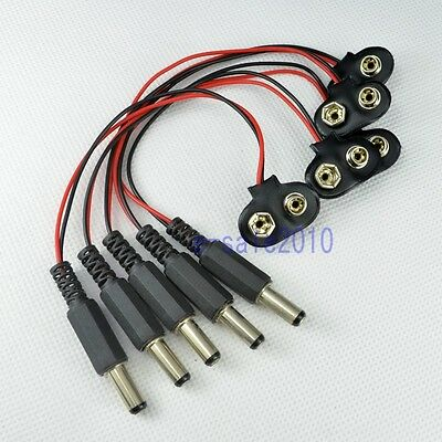 5pcs 90° DC 9V Battery button power plug for Arduino Mega 2560 1280 UNO R3 130