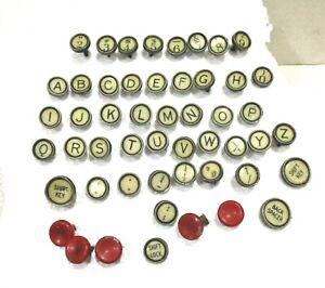 51 Antique #12 Remington Standard Typewriter Keys for Craft Project -Complete