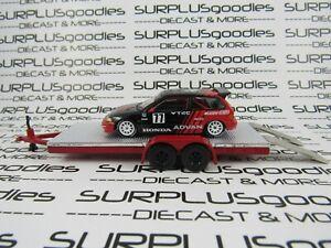 Inno64-1-64-LOOSE-Track-Day-ADVAN-HONDA-CIVIC-EF9-Mugen-Kanjo-Race-w-Car-Trailer