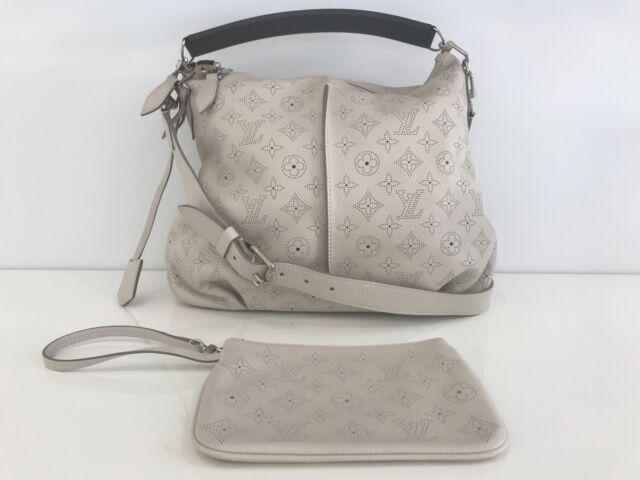 Louis Vuitton White Tone Mahina Selene Mm Shoulder And Crossbody Bag