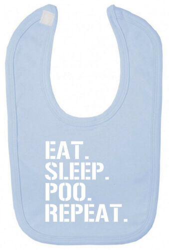 Eat Sleep Poo Repeat Bib Christening baby shower gifts for newborn boy girl