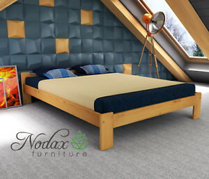 Image Is Loading New Wooden Pine European Double Size Bed Frame