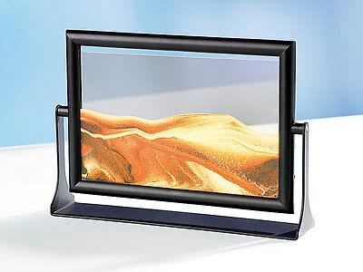 PREMIUM Bild Sandbild Wüste SAHARA 13x18 cm Wasser Orange Unikat Geschenkidee