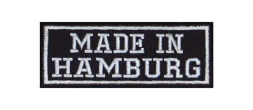 Made in Hamburg Biker Patches Aufnäher MC Motorrad Bundesland Deutschland Stadt
