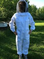 Full Bee Keeping Suit, Heavy Duty Size Xl Fencing Style Hood