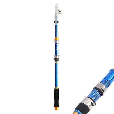 New Portable 2.1M Telescopic Fishing Rod Travel Spinning Fishing Pole Sales