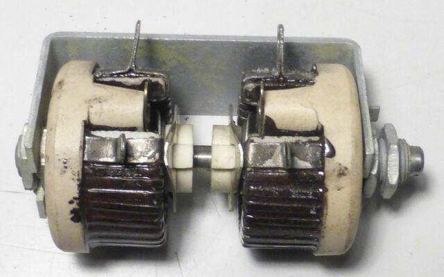 Rhéostat ajustable double 0 à 1,3 Ohms 4,2 Ampères US NOS NIB