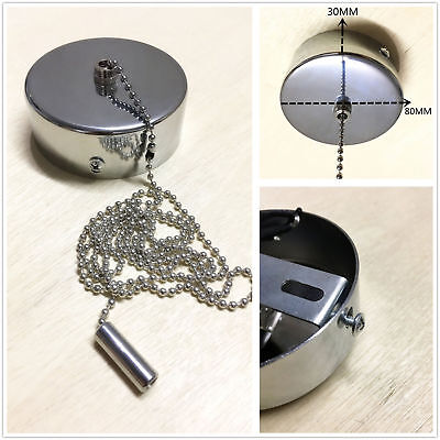 Light Pull Chain Switch Chrome Cover for Bathroom Ceiling ...