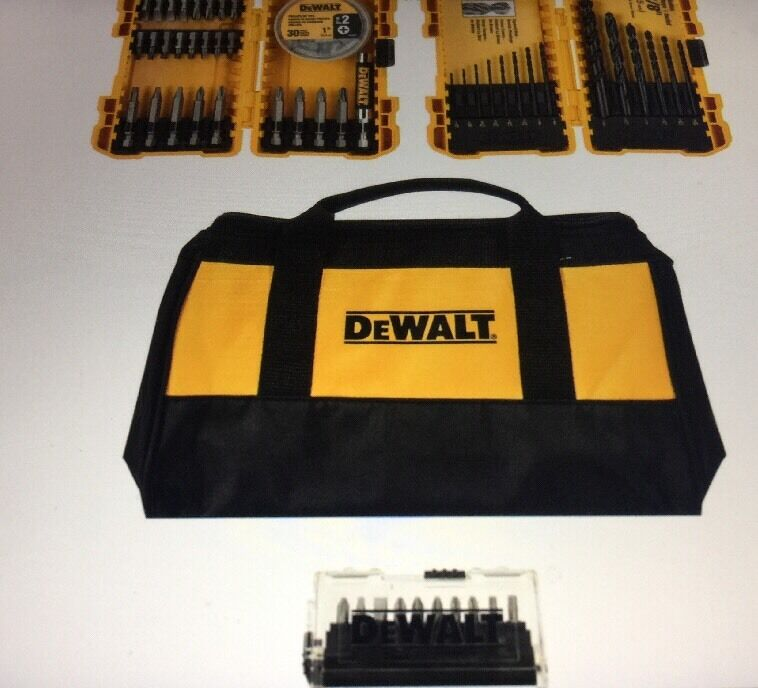 Dewalt DWA2L0BAG80 80-Piece Bohren   Fahren Trage Set mit   Contractor