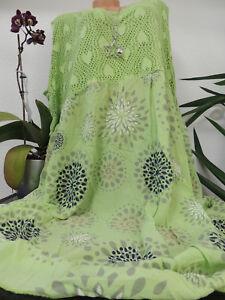 Damen Kleid Größe 52 54 56 58 60 Übergröße Kleider Maxikleid Spitze Blumen  eBay