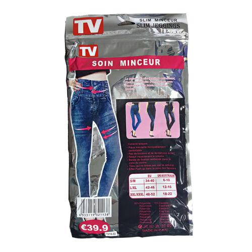 Push-Up Slim come in Tv Leggings Pantaloni Effetto Jeans Leggins Jeggings