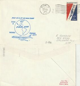 US-1960-PAN-AM-FAM-5-FIRST-FLIGHT-FLOWN-AIR-MAIL-LETTER-MIAMI-TO-PANAMA-CITY
