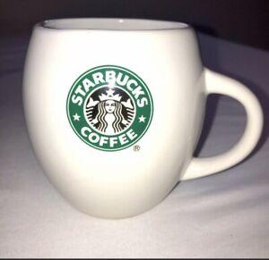 Starbucks Round Coffee Mug Barrel 2007 19.4 oz Retired Mermaid Logo Cup White
