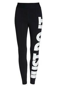 d6f590a270078 Nike Women's Leg-A-See JUST DO IT High-Rise Leggings Black/White ...