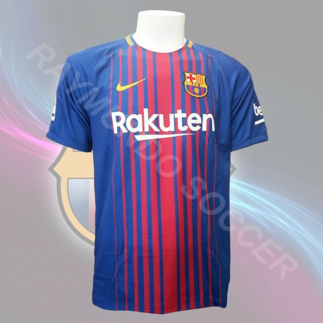 d61780bac Nike FC Barcelona Official 2017 2018 Home Soccer Football Jersey L ...