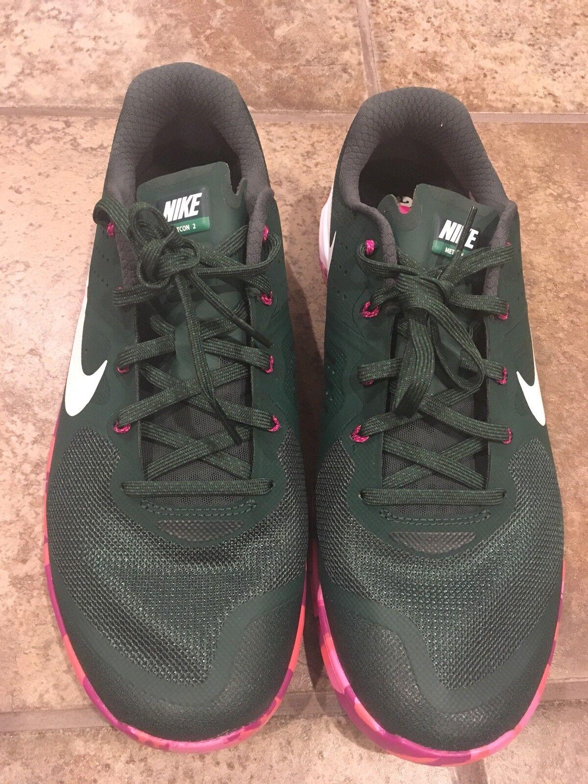 Nike metcon 2 amp pino verde scarpa (819902-315 sz 11)