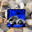 Chat Bleu Animal Magic Kitty Cat Cabochon Verre Carrelage Balle Chaîne Collier Pendentif