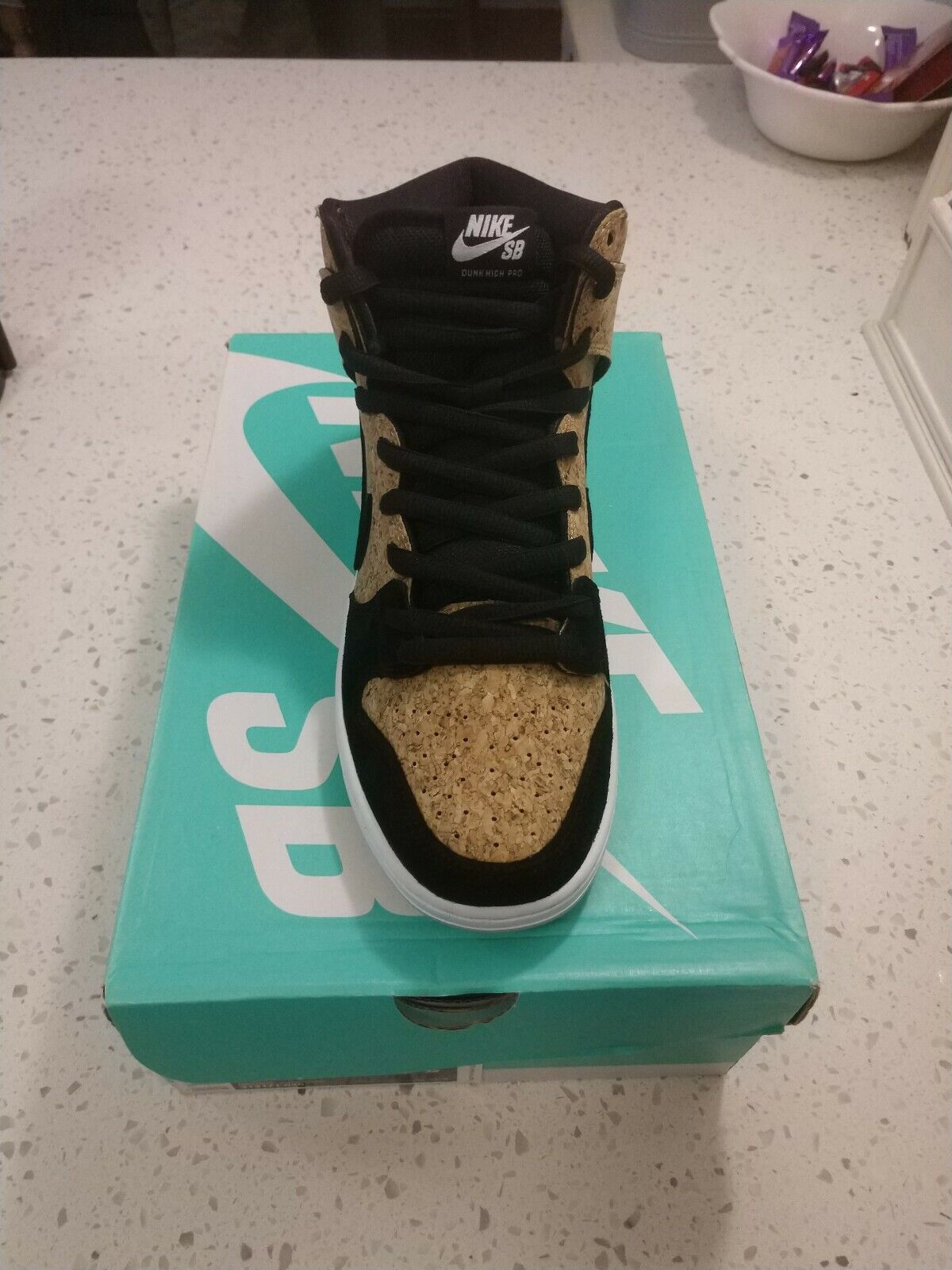 2c2de7176c Nike SB Dunk High And Black Suede. New In Box Cork Pro. ncetbs7657-Athletic  Shoes