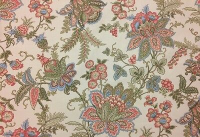 "MAGNOLIA HOME CAMBRIDGE LINEN JACOBEAN FLORAL MULTI-USE FABRIC 1 YARD 54""W"