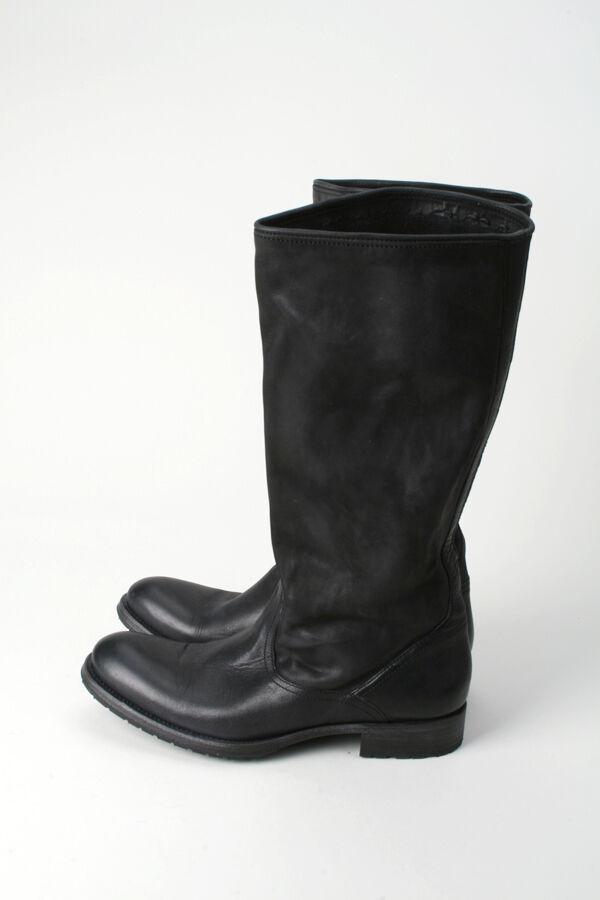 N.D.C. Made By Hand-Nuevo en Caja Slouch de cuero negro botas de vaquero 36 1 2 NDC