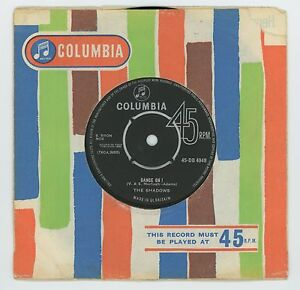 The-Shadows-1960-039-s-U-K-Columbia-45rpm-Dance-On-b-w-All-Day