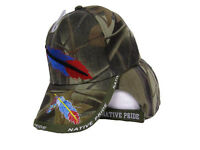Native American Feather And Beads Native Pride Indian Shadow Camo Ball Cap Hat