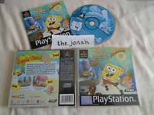 SpongeBob Squarepants SuperSponge PS1 (COMPLETE) black label Sony Playstation