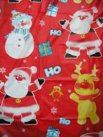 """christmas  table cloth 54"""" x 72"""" santa ,snowman and reindeer"""