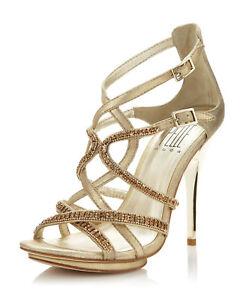 Pelle Moda Metallic Posey Strappy Sandale Platinum Platinum Sandale Gold Größe 7.5 ... 68ff9c
