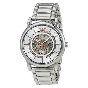 859f463bbae1 Image is loading BRAND-NEW-EMPORIO-ARMANI-AUTOMATIC-STAINLESS-STEEL -BRACELET-