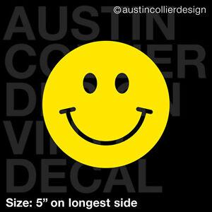 5-034-HAPPY-FACE-vinyl-decal-car-truck-window-laptop-sticker-smiley-face