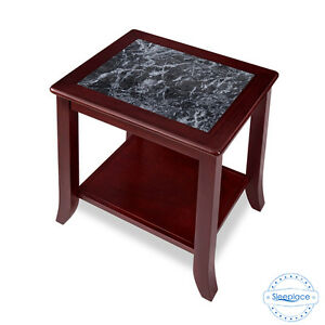 Image Is Loading Sleeplace New Black Tone Marble Top End Table