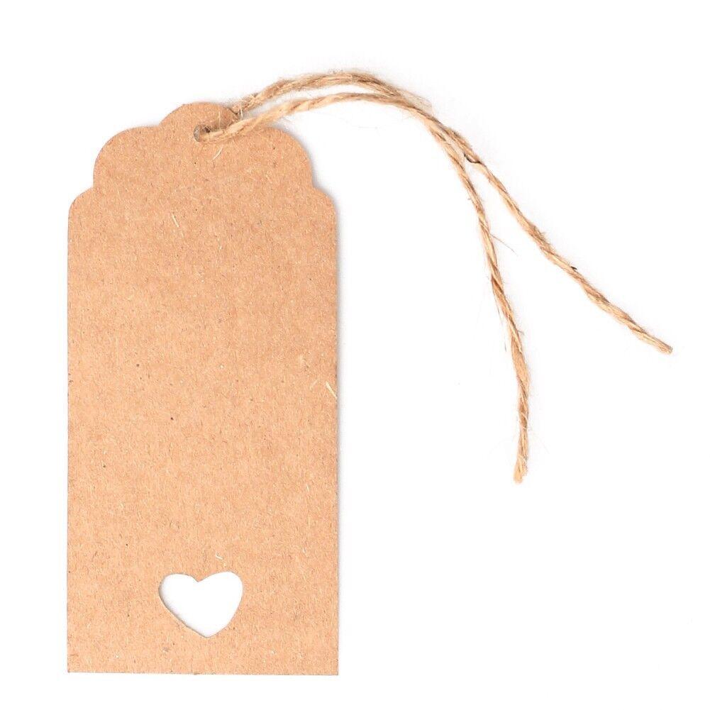 Kraftpapier Aufhängen Anhänger Hochzeit Party Geschenk Punch Etikett Sonderpreis