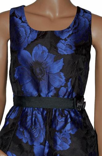 C033-Negro y Azul Noche Baile de Graduación Damas Vestido-UK 8-16