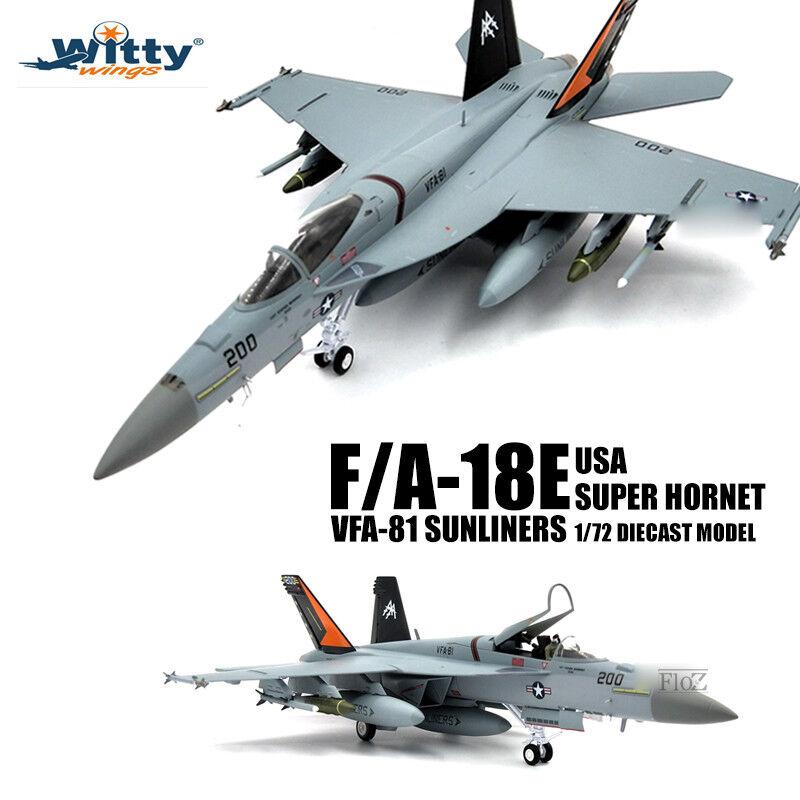 Witty USA F A-18E Super Hornet VFA-81 Sunliners 1 72 diecast model aircraft