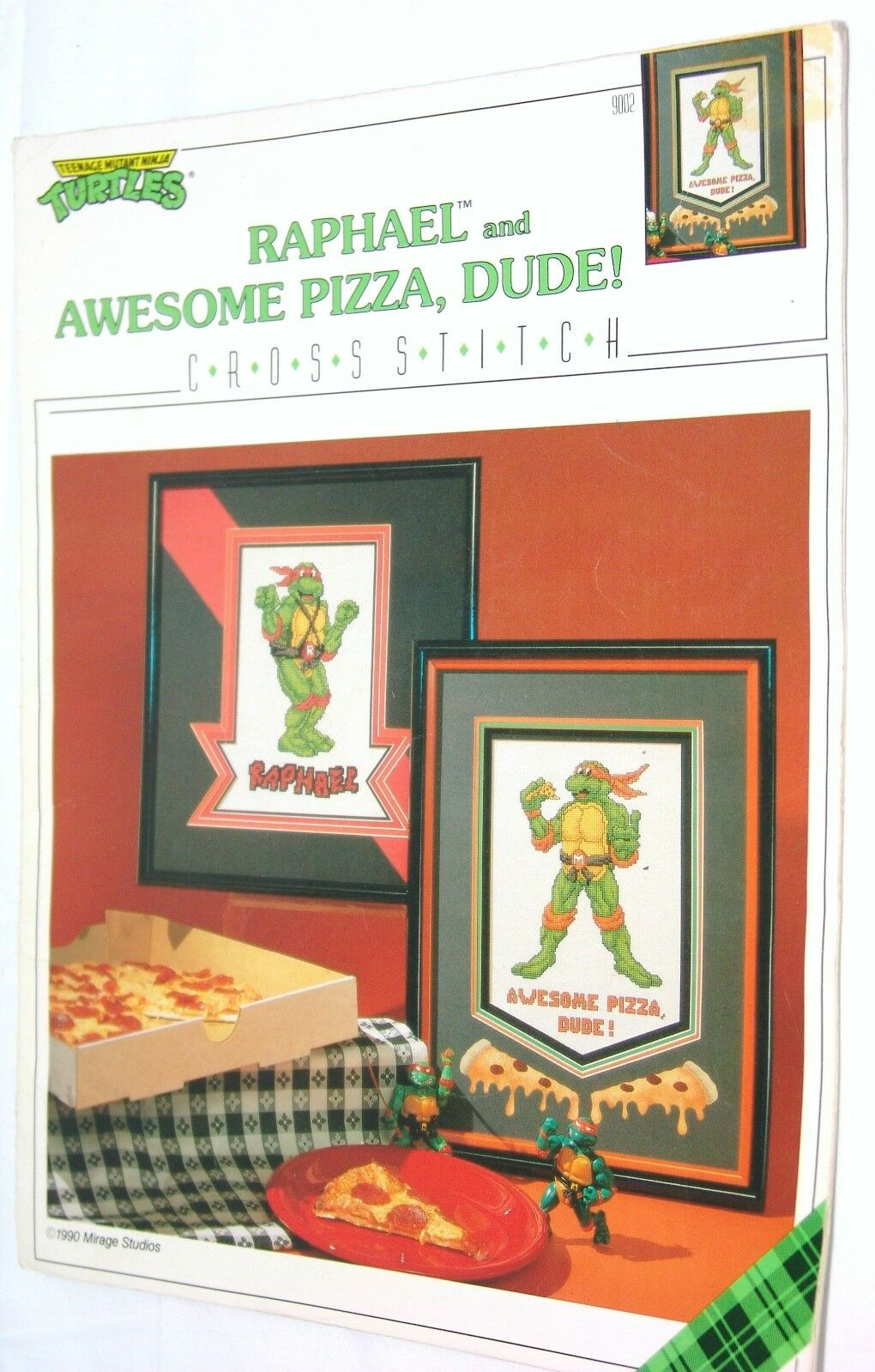 Vintage 1990 Tmnt Teenage Mutant Ninja Turtle Counted Cross Stitch