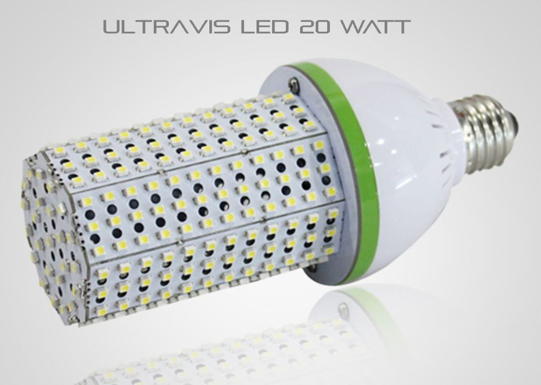 UltraVis LED 20W Outdoor Indoor Retrofit Corn Light, 5K Daylight, E39, UL Listed