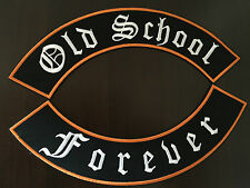 Old School Forever Patch Banner XL Set je 33x6 cm-Rockabilly Biker Kutte MC