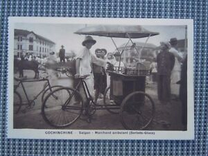 Carte Postale Cochinchine Saïgon Marchand Ambulant Sorbets Glace Xlbvq36r-10042600-304045407