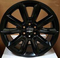 24 Wheels Satin Black Rims Fit Chevy Suburban Gmc Escalade Sierra 1500 Ltz