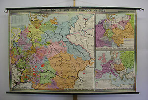 Map Of Germany 1815.Schulwandkarte Wall Map Map Germany Prussia 1789 1815 207x133cm 1953