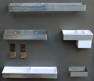 Accessori Per Il Bagno Acciaio.Dettagli Su Set Accessori Arredo Bagno 8 In 1 Acciaio Inox Finitura Satinato