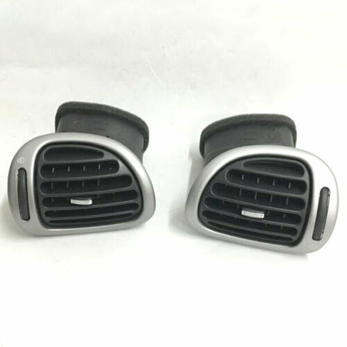 Grey Dash Air Deflector Vent Outlet Left Right Pair Grill For Peugeot 206 206CC