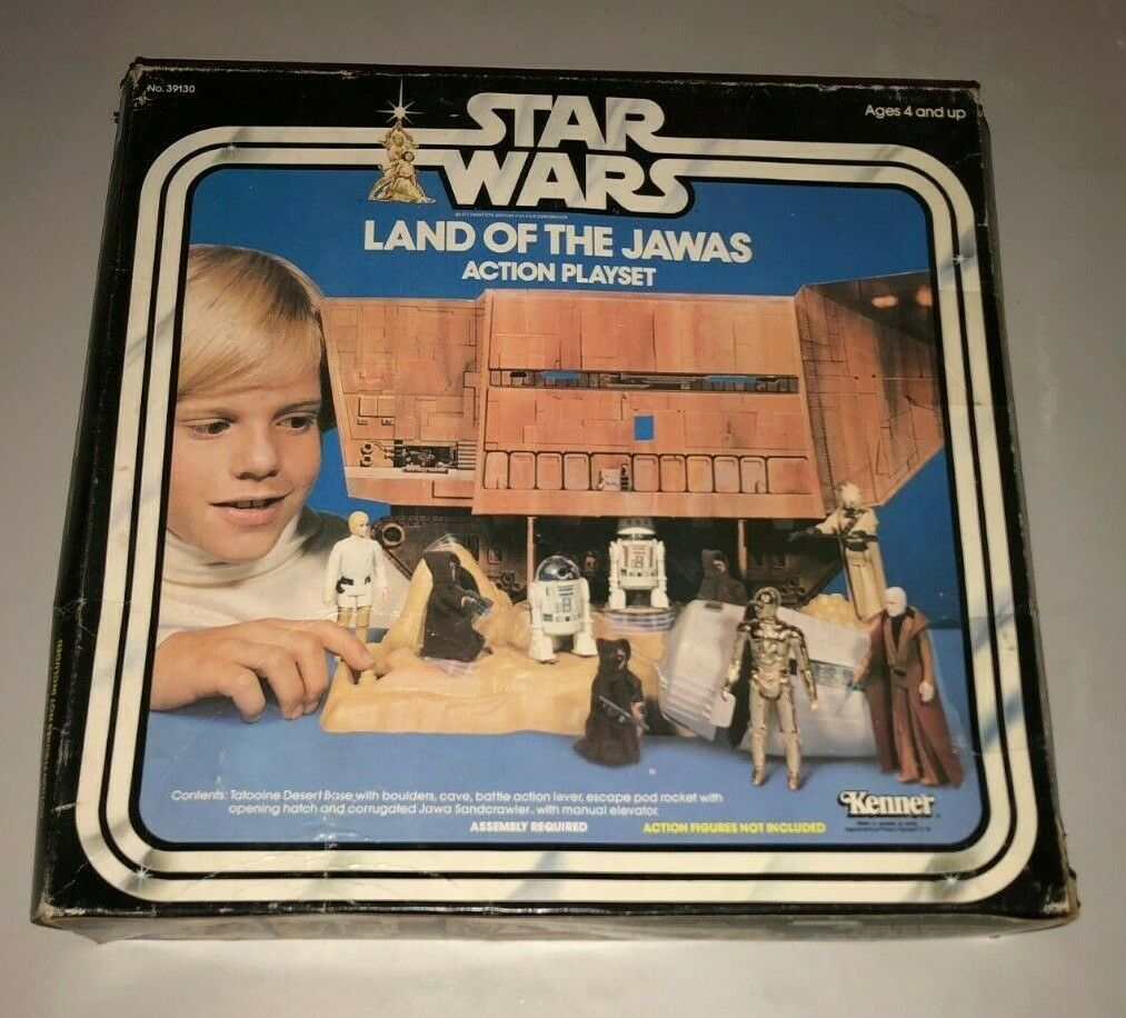 Star Wars Vintage Land of the the the Jawas Action Playset USED Complete Kenner 1977 5a2760