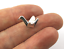 Antique Silver Tibetan alloy ORIGAMI BIRD CRANE Charm Pendant Bead Craft Card