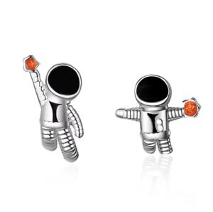 earrings silver astronaut universe Orecchini Astronauta Universo Argento 925