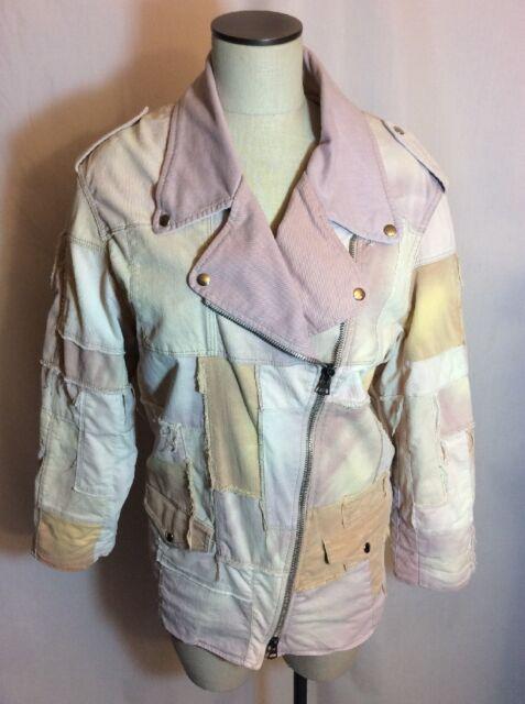 Isabel Marant Olaz Patchwork Denim Jacket Size 36 FR or 6 US GUC Small Spots