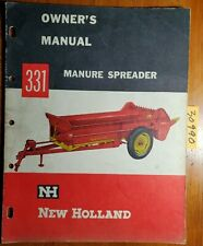 New Holland 331 Manure Spreader Owners Operators Manual O331 3 25m 9 60w 960